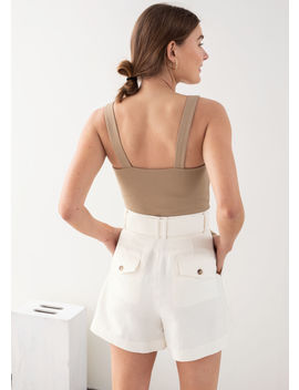 Square Buckle Strap Tank Top by & Other Stories