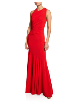 Sorbets Cutout Stretch Crepe Halter Gown by Talbot Runhof