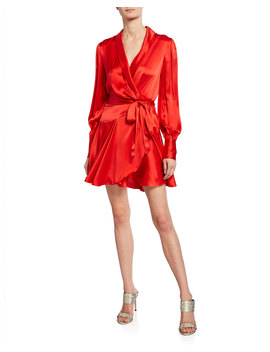 Long Sleeve Short Wrap Dress by Zimmermann