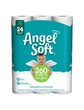 Angel Soft Toilet Paper   12 Double Rolls by Angel Soft