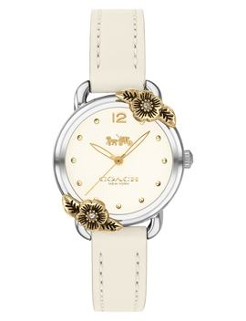 Delancey Tea Rose Leather Strap Watch, 28mm by Coach