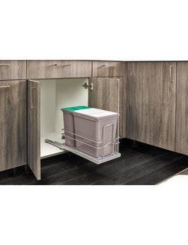 Sink Base Pullout Waste Container Kitchen Organizer by Rev A Shelf