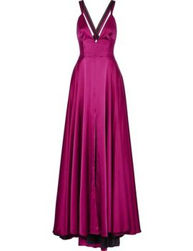 Monroe Silk Blend Satin Gown by Milly