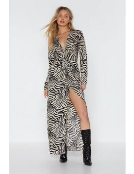 Don't Get It Twisted Zebra Maxi Dress by Nasty Gal