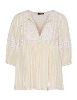 Midsummer Moments Embroidered Cotton Gauze Blouse by Love Sam