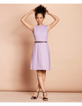Stretch Wool A Line Dress by Brooks Brothers