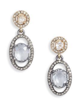Pavé Orbital Drop Earrings by Jenny Packham