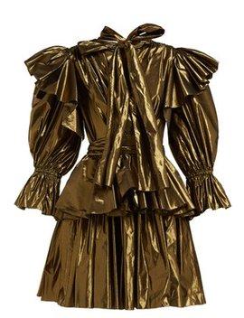 Ruffled Lamé Mini Dress by Dolce & Gabbana