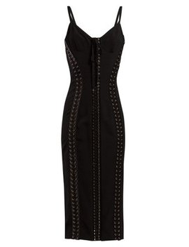 Lace Up Midi Dress by Dolce & Gabbana