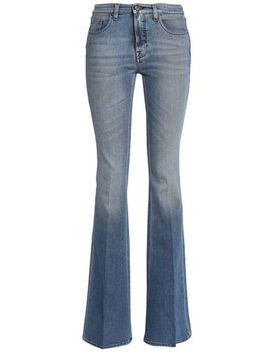 Faded Mid Rise Flared Jeans by Victoria, Victoria Beckham
