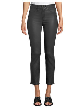 High Rise Ankle Leather Cigarette Pants by Rag & Bone