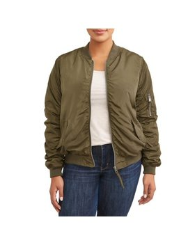 Women's Plus Size Pop Tone Bomber Jacket by Outeredge