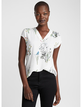 Loose Printed Crepe Blouse by Contemporaine