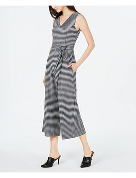 Printed Cropped Sleeveless Jumpsuit by Calvin Klein