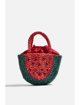Sun Watermelon Straw Mini Bag by Topshop