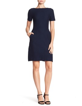 Waffle Knit Pocketed Sheath Dress by French Connection