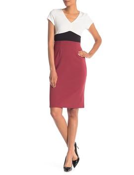 Colorblock Cap Sleeve Dress by Vanity Room