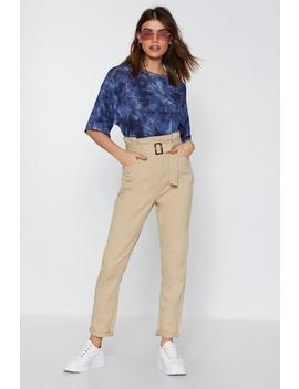 You Got This High Waisted Paperbag Jeans by Nasty Gal