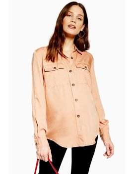 **Maternity D Ring Utility Shirt by Topshop