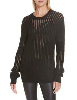 Sheer Stripe Sweater by Helmut Lang