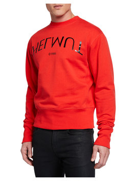 Men's Hack Logo Crewneck Sweatshirt by Helmut Lang