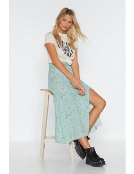 Floral A Line Slit Maxi Skirt by Nasty Gal