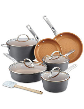 11 Pc. Hard Anodized Aluminum Cookware Set by Ayesha Curry Home Collection