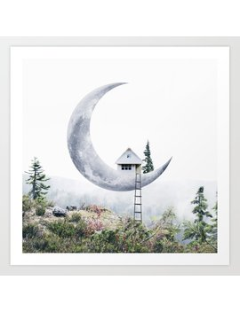 Moon House Art Print by Society6