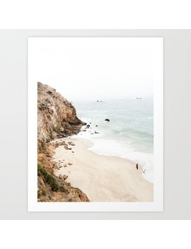 Malibu California Beach Art Print by Society6