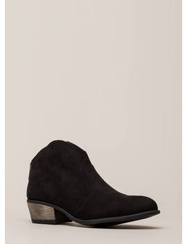 Cowgirl Roundup Faux Suede Booties by Go Jane