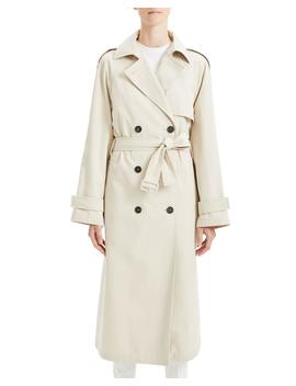 Staple Classic Crepe Long Trench Coat by Theory
