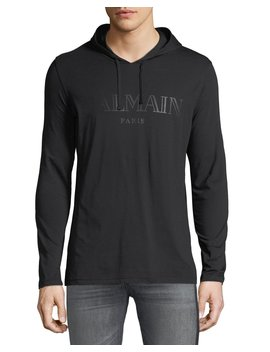 Men's Logo Graphic Hoodie by Balmain