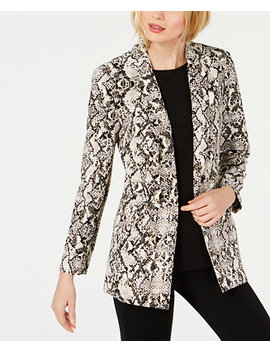 I.N.C. Snake Print Blazer, Created For Macy's by Inc International Concepts