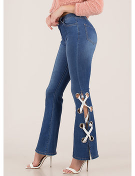 laced-the-test-bell-bottom-jeans by gojane