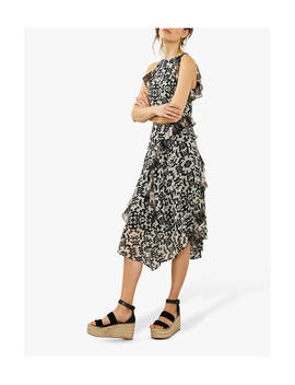 Mint Velvet Floral Mix Print Ruffled Dress, Multi by Mint Velvet