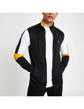 Jack & Jones Black Zip Front Track Top by River Island