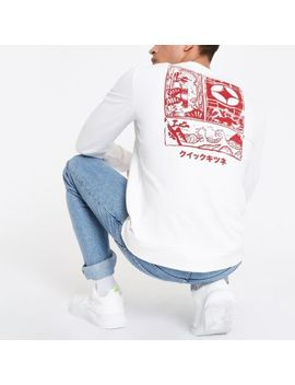 Only & Sons White Printed Sweatshirt by River Island
