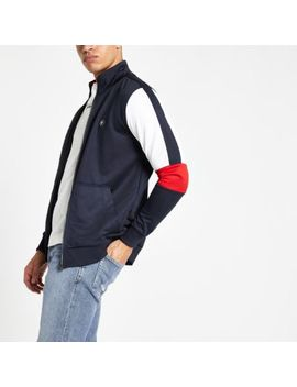 Jack & Jones Navy Zip Front Track Top by River Island