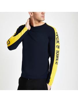 Jack & Jones Navy Tape Sweatshirt by River Island