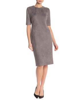 Faux Suede Scuba Sheath Dress by Anne Klein New York