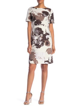 Emanuelle Floral Woven Dress by Lafayette 148 New York