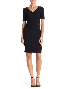 Short Sleeve Textured Dress by Julia Jordan