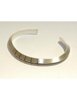 Mens Silver Cuff Bracelet   Triangular Cuff Bracelet   Silver Southwestern Style   Thick Silver Cuff   Triangular Pattern Bracelet    Br8638 by Etsy