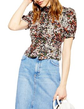 Ditsy Floral Print Top by Topshop