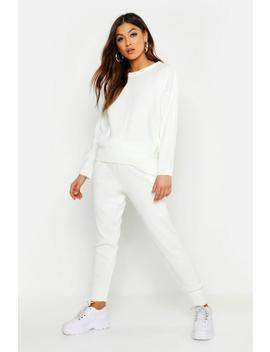 crew-neck-knitted-set by boohoo