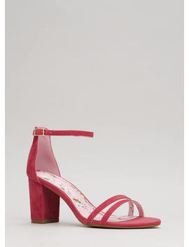 Two To One Strappy Block Heels by Go Jane