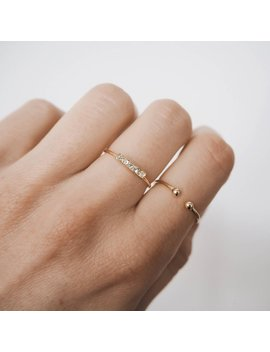 Open Ball Ring, Open Ring, Stacking Ring, Gold Stacking Ring, Dainty Ring, Gold Dainty Ring, R052 by Etsy