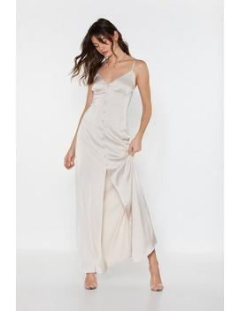 Like Button Wouldn't Melt Satin Maxi Dress by Nasty Gal