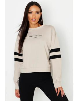 new-york-city-embroidered-crew-neck-sweat by boohoo