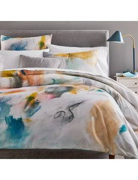 Organic Sateen Asha Duvet Cover + Shams by West Elm